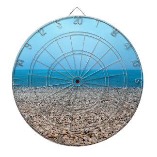 Playa de piedra hermosa tablero de dardos
