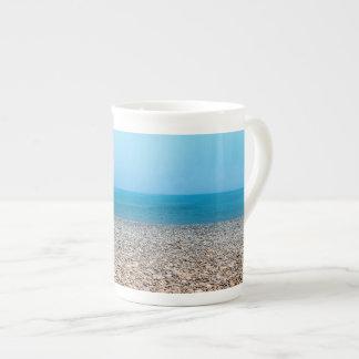 Playa de piedra hermosa tazas de china