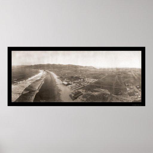 Playa de Pismo, foto 1906 de CA Posters