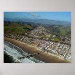 Playa de Pismo, impresión de la opinión aérea de C Póster