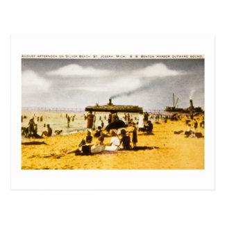 Playa de plata, San José, Michigan Tarjetas Postales