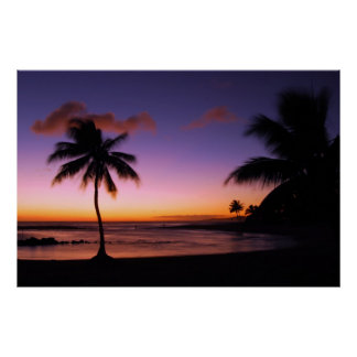 Playa de Poipu - Kauai, Hawaii Póster