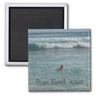 Playa de Poipu, Kauai Imán Cuadrado