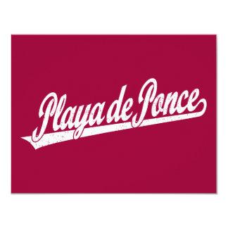 Playa de Ponce script logo in white distressed Invites