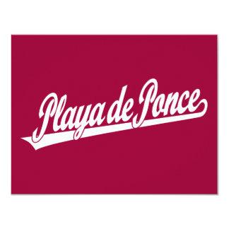 Playa de Ponce script logo in white Custom Invites