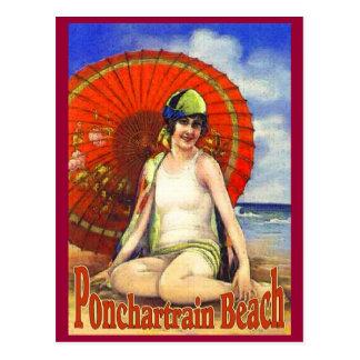 Playa de Ponchartrain vieja Postal