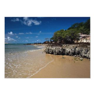 """Playa de Ponta Negra, natal, el Brasil Invitación 5"""" X 7"""""""