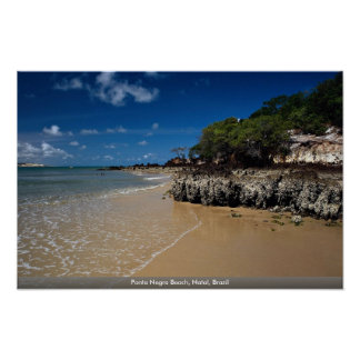 Playa de Ponta Negra, natal, el Brasil Póster