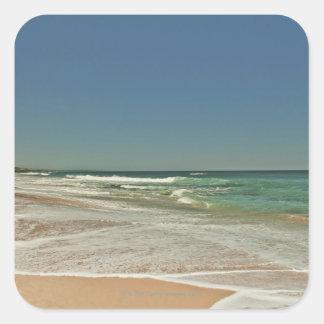 Playa de Portsea, Victoria Pegatina Cuadradas Personalizada