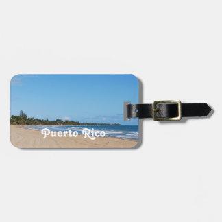 Playa de Puerto Rico Etiquetas De Maletas