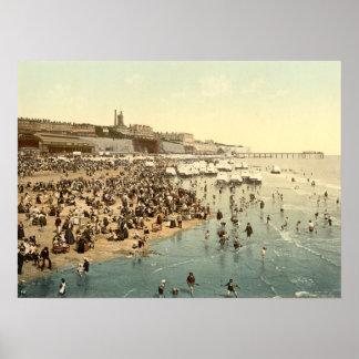 Playa de Ramsgate, Kent, Inglaterra Póster