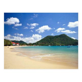 Playa de Reduit bahía de Rodney St Lucia Postal