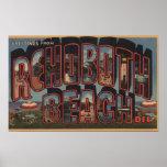 Playa de Rehoboth, Delaware - escenas grandes de l Posters