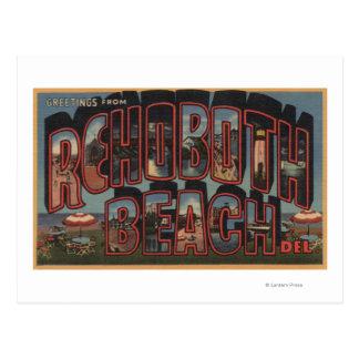 Playa de Rehoboth, Delaware - escenas grandes de Postales