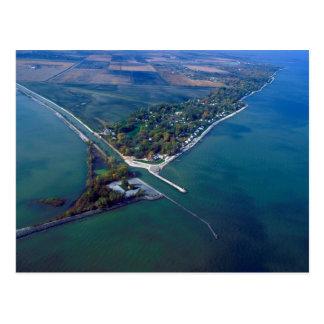 Playa de Reno en la fotografía aérea del lago Erie Postal
