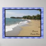 Playa de Rincon En Puerto Rico Póster