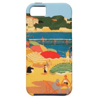 Playa de riviera francesa del vintage iPhone 5 Case-Mate fundas