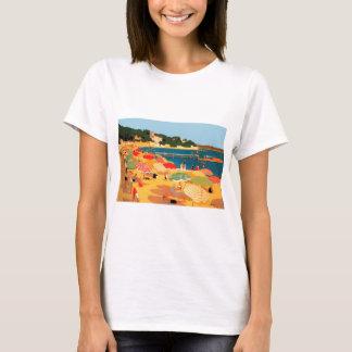 Playa de riviera francesa del vintage playera