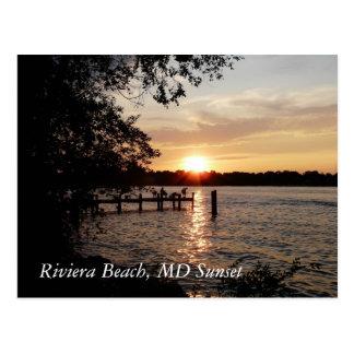 Playa de Riviera, puesta del sol del MD - POSTAL