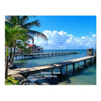 Playa de Roantan, Honduras Tarjeta Postal