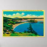 Playa de Rosario en las islas de San Juan, Washing Poster