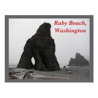 Playa de rubíes, foto del viaje de Washington Postales