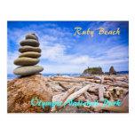 Playa de rubíes - parque nacional olímpico tarjeta postal