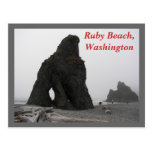 Playa de rubíes, Washington Tarjetas Postales