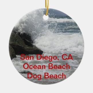 Playa de San Diego adaptable océano regalos de C Ornamentos Para Reyes Magos