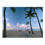 Playa de Sandy 4 Tarjeta Postal