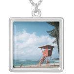 Playa de Sandy 5 Collar Plateado