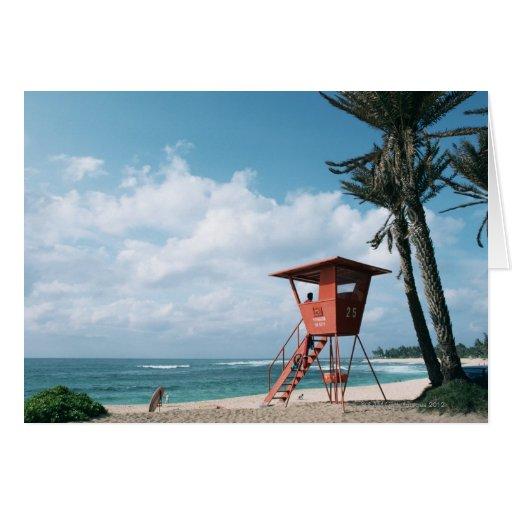 Playa de Sandy 5 Tarjeta De Felicitación