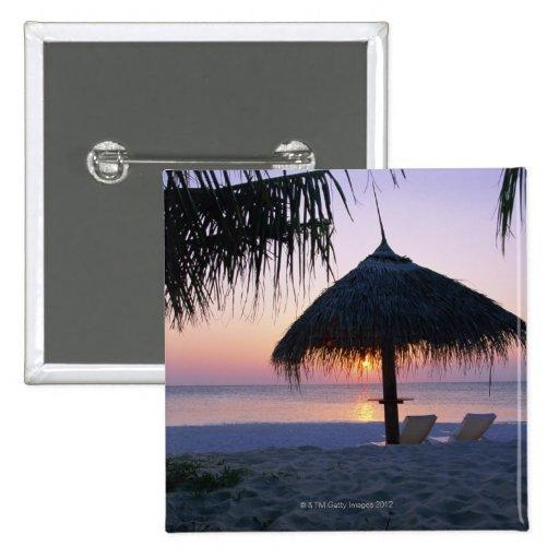 Playa de Sandy 6 Pin Cuadrada 5 Cm