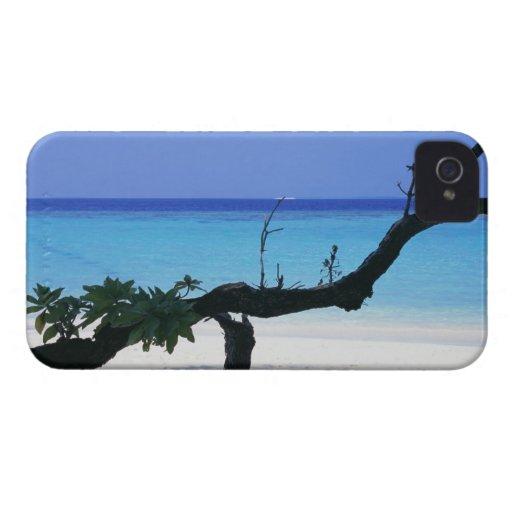 Playa de Sandy 8 iPhone 4 Cárcasa