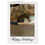 Playa de Sandy blanca; Feliz cumpleaños Tarjetas