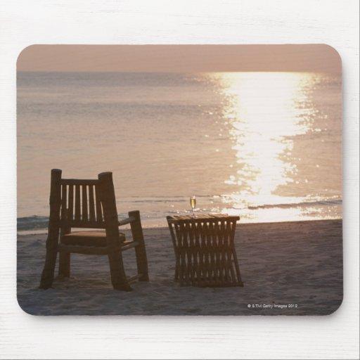 Playa de Sandy de la puesta del sol 2 Alfombrillas De Raton