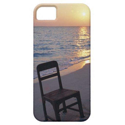 Playa de Sandy de la puesta del sol iPhone 5 Fundas
