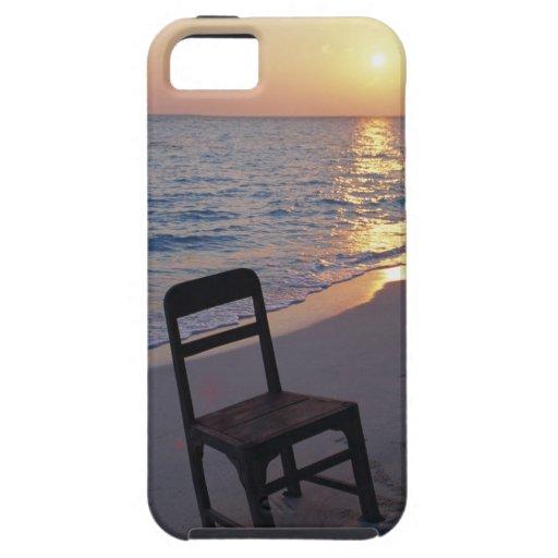 Playa de Sandy de la puesta del sol iPhone 5 Case-Mate Funda