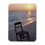 Playa de Sandy de la puesta del sol Imán Flexible