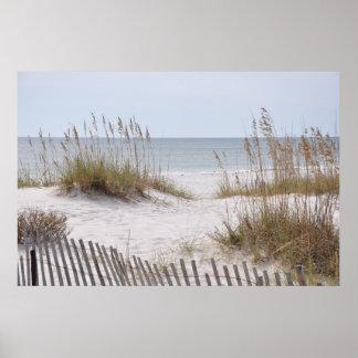 Playa de Sandy en el poster de la Costa del Golfo