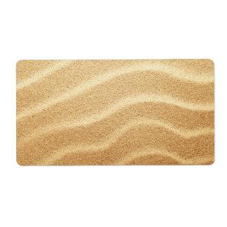 Playa de Sandy Etiqueta De Envío