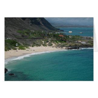 Playa de Sandy, Oahu, Hawaii Tarjeta Pequeña