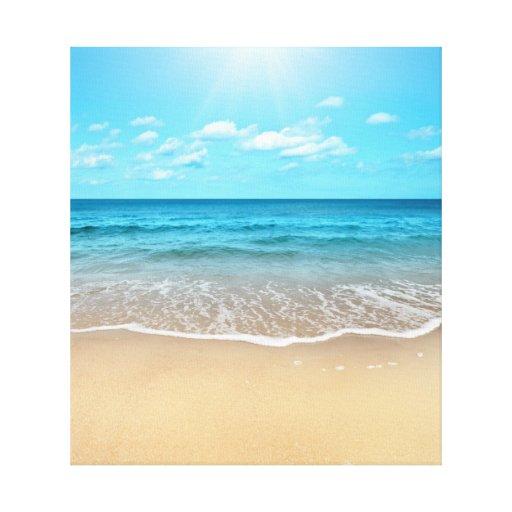Playa de Sandy perfecta Impresion De Lienzo