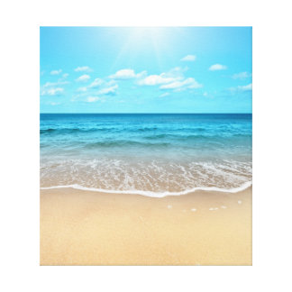 Playa de Sandy perfecta Lona Estirada Galerias