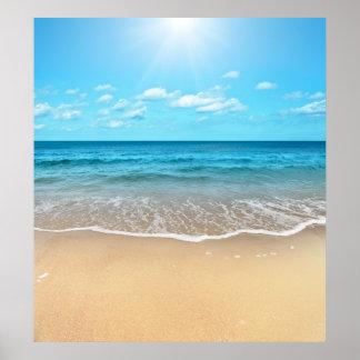 Playa de Sandy perfecta Póster