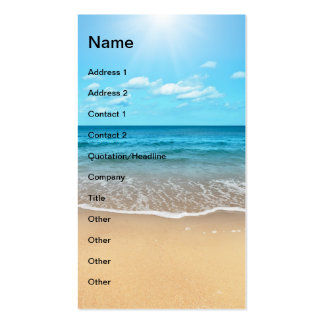 Playa de Sandy perfecta Plantilla De Tarjeta De Negocio