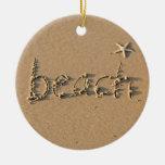 Playa de Sandy y ornamento del navidad de las estr Adorno