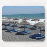 Playa de Santorini, Grecia Tapete De Ratón