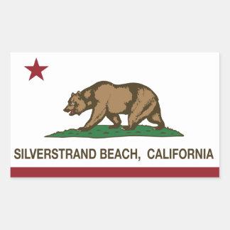 Playa de Silverstrand de la bandera de la Pegatina Rectangular
