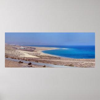 Playa de Sotavento en Fuerteventura Posters